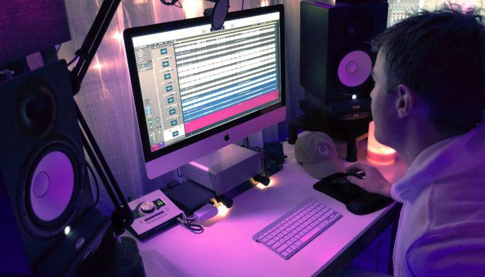 Mixing a commercial at Loud Color LA Studios